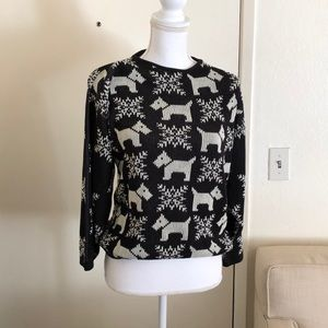 Vintage 90s Oversized Slouchy Dog Sweater